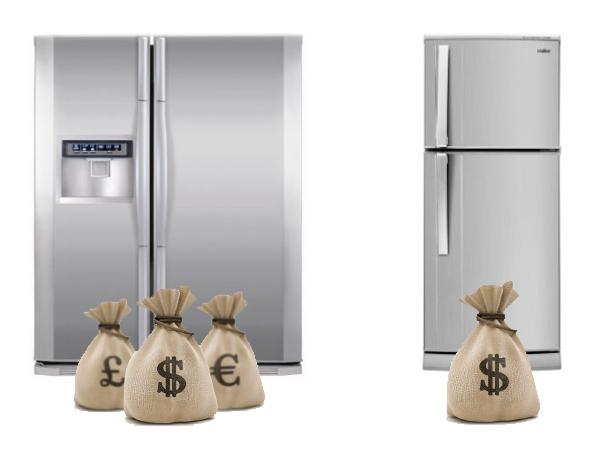 Tại sao tủ side by side đắt gấp 10 lần tủ thường?