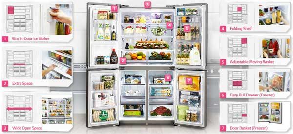 """Lựa chọn tủ lạnh thích hợp dành cho """"đại gia đình"""""""